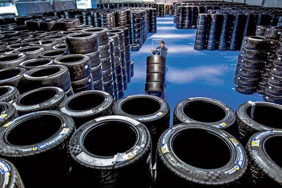 Michelin: Reifenlager in Le Mans