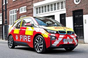 Feuerwehreinsatz für den i3