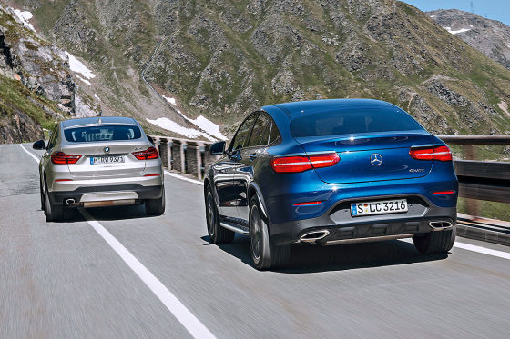 BMW X4 Mercedes GLC Coupé