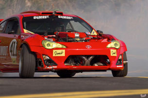 GT86 mit Ferrari-V8 gecrasht
