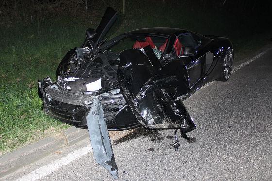 McLaren 650S Spider Unfall
