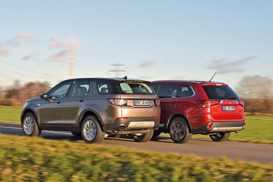 Land Rover Discovery Sport Mitsubishi Outlander