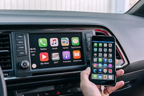 Apple Carplay scannt den Seat