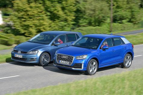 Plattform-Brüder: Audi Q2 und VW Golf im Vergleich - autobild.de