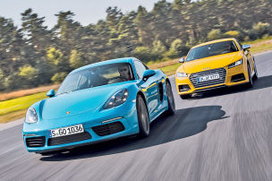 Porsche beißt Audi weg