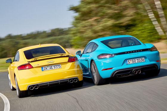 Audi TTS Porsche 718 Cayman