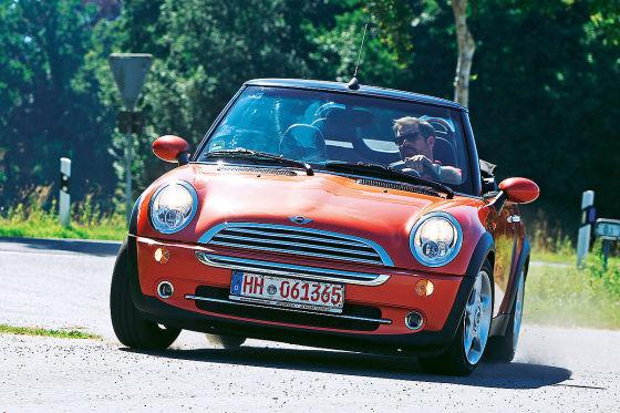 mini cooper cabrio vw beetle cabrio gebrauchtwagen test. Black Bedroom Furniture Sets. Home Design Ideas