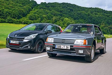 kleine sportler: peugeot 208 gti trifft 205 turbo 16 - autobild.de