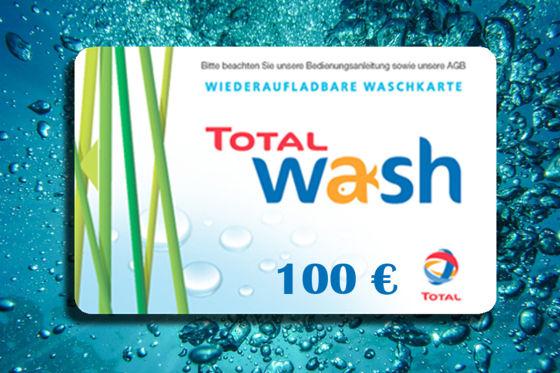 100-Euro-Waschkarte von TOTAL