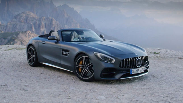 Video Mercedes Amg Gt C Roadster 2017 Trailer Autobild De