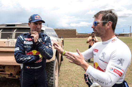 Stéphane Peterhansel (l) und Sébastien Loeb