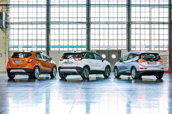 Opel Ampera-e Opel Crossland X Opel Mokka X