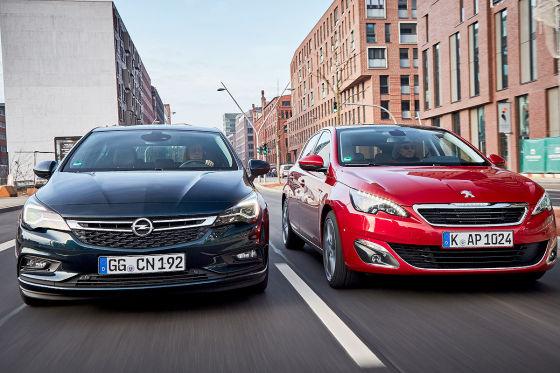 Opel Astra Peugeot 308