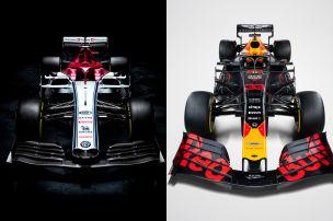 Red Bull und Alfa zeigen Lackierung
