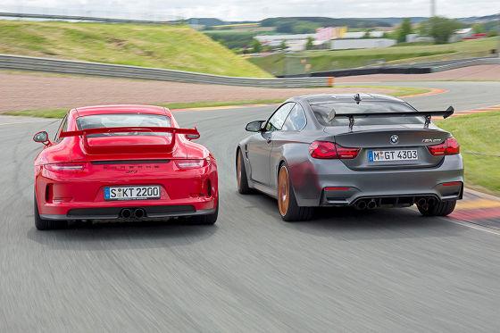 BMW M4 GTS Porsche 911 GT3