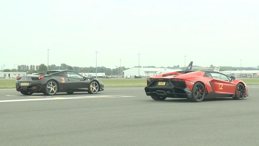 Video Ferrari 458 Vs Lamborghini Aventador Auto Bild