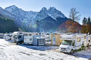 Stellplätze für Wintersportler