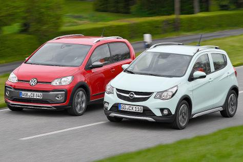 Mikro Suvs Opel Karl Rocks Trifft Vw Cross Up Autobild De