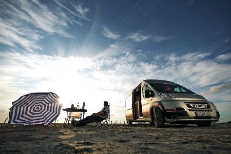 Wohnmobil-Stellplätze am Strand