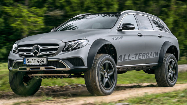 video: mercedes e-klasse all-terrain 4x4² (2017) - autobild.de