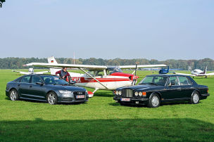 Audi A6 gegen Bentley