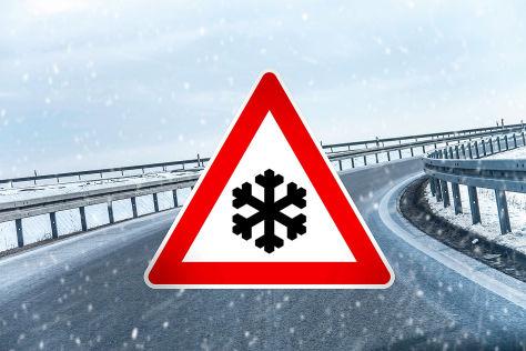 Achtung Winter-Reiseverkehr