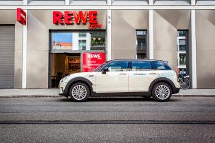 Rewe-Paket von DriveNow: Mietwagen