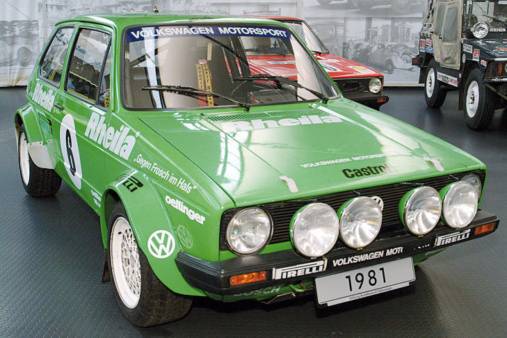 Fünf Generationen VW Golf GTI