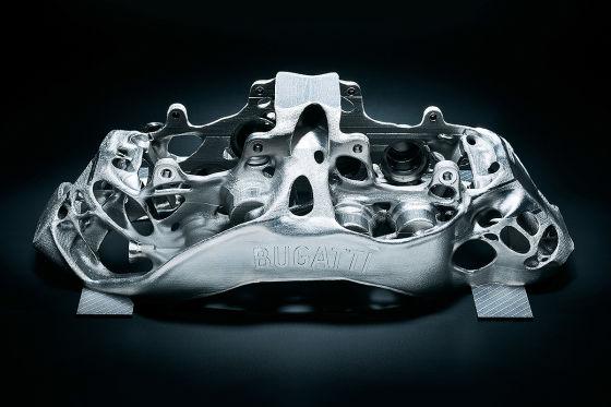 Bugatti Bremssattel aus dem 3D Drucker