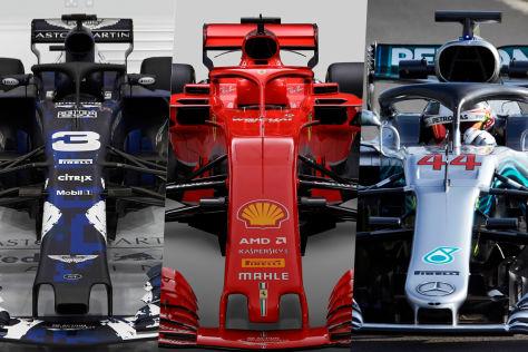 F1 Topautos 2018 Im Vergleich Ferrari Hat Die Schlankste Taille