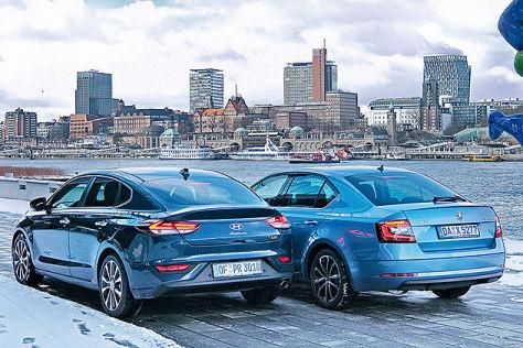 Test Hyundai I30 Fastback Gegen Skoda Octavia Autobildde
