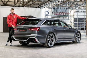 Mild-Hybrid-V8 f�r den neuen RS 6!