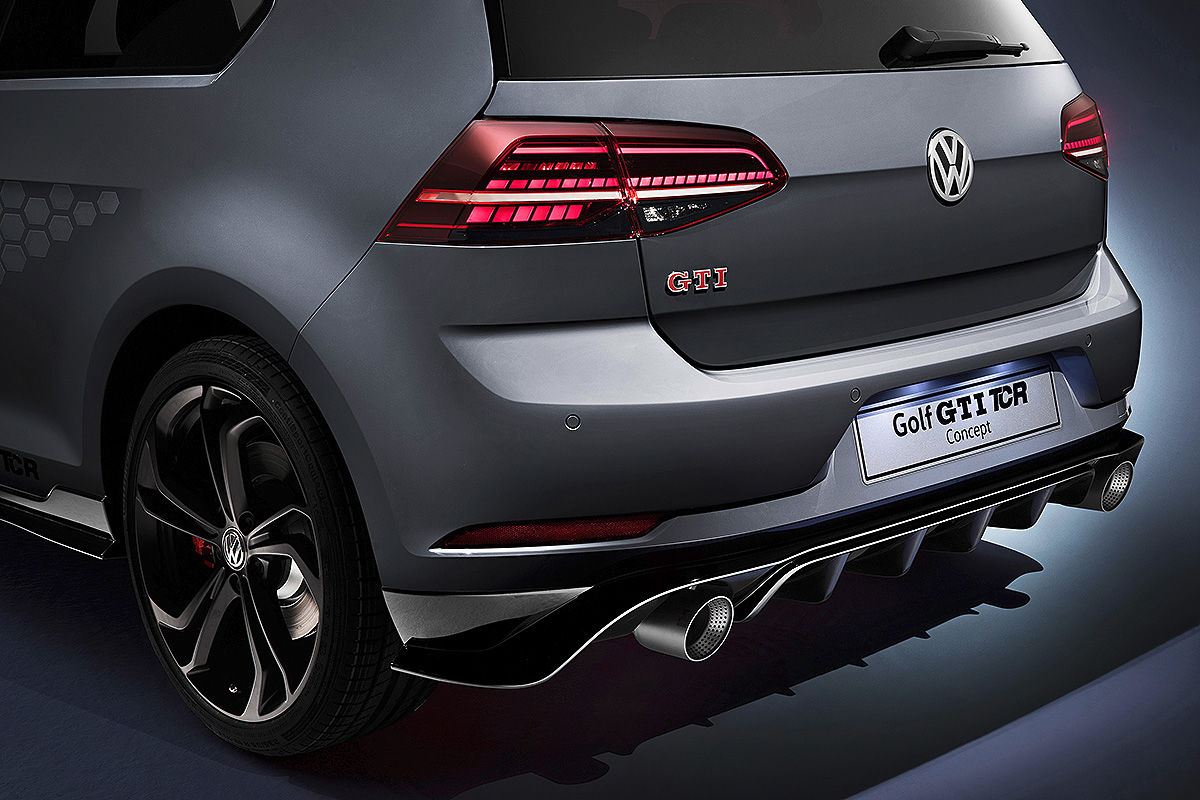 vw golf 7 gti tcr concept 2018 test alle infos. Black Bedroom Furniture Sets. Home Design Ideas
