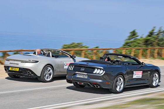 Aston Martin DB11 Volante Ford Mustang Convertible V8