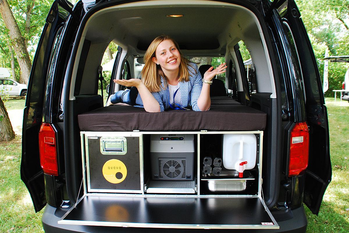VW Caddy mit Ququq Kombibox