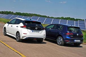 VW e-Golf/Nissan Leaf: E-Autos im Test