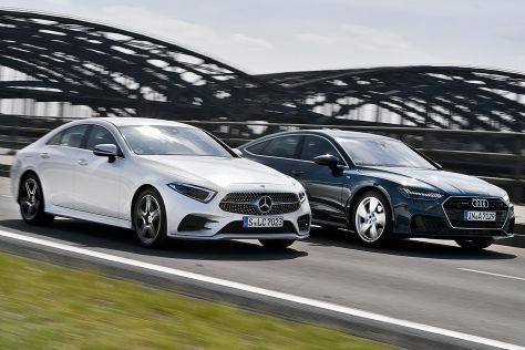 coupé-limos im test: audi a7 sportback gegen mercedes cls - autobild.de