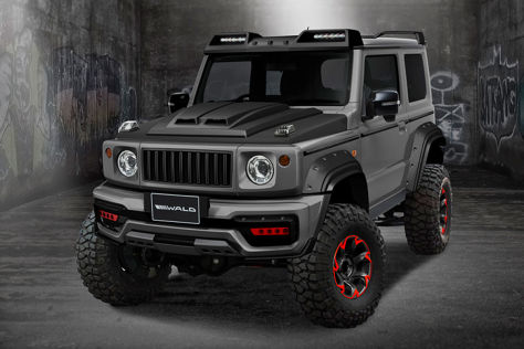 suzuki jimny 2019 tuning bodykit fahrwerk optik. Black Bedroom Furniture Sets. Home Design Ideas