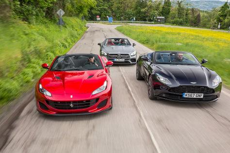 Ferrari Portofino Trifft Sl 63 Und Db11 Volante Roadster Mit V8 Autobild De
