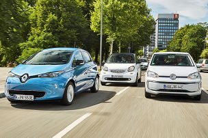 Renault Zoe/Smart EQ fortwo/VW e-Up: E-Autos im Test