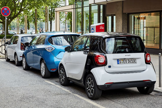 Renault Zoe Smart EQ fortwo VW e-Up