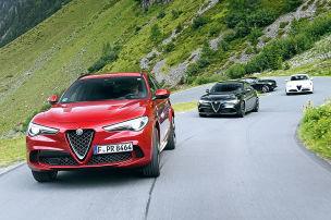 Mit vier Alfa durch die Alpen