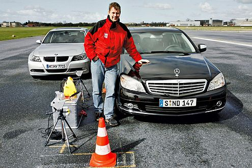 Hauchdünner Punktsieg: Die neue C-Klasse landet vor dem BMW 3er.