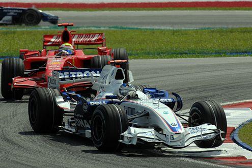 In Malaysia hatte Felipe Massa in seinem Ferrari keine Chance gegen den von Heidfeld gesteuerten BMW.