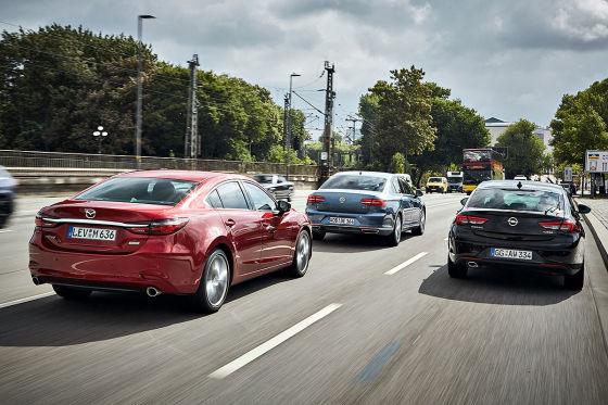 Mazda 6 VW Passat Opel Insignia