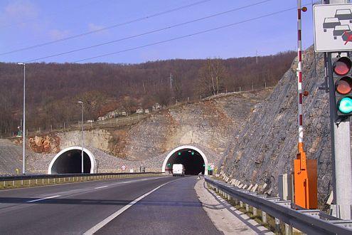 Testsieger beim Tunneltest 2007: der Brinje-Tunnel in  Kroatien.