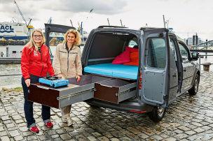 VW Caddy-Ausbau: Wohnmobil-Test