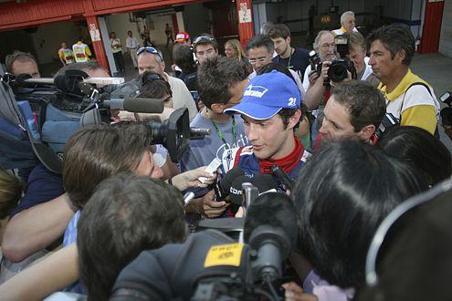 Der Name bürgt für Qualität: Bruno Senna nach dem Sieg am Samstag.