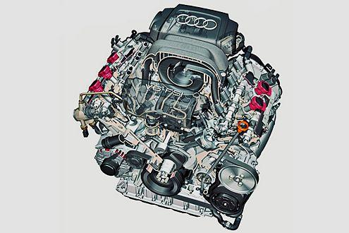 Sahne-Motor: Auch beim 2.8 V6 wird das Bezin jetzt direkt eingespritzt.