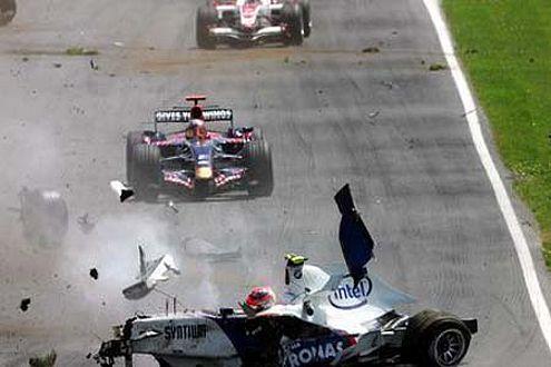 Heidfeld war erleichtert, als er erfuhr, dass Kubica den Crash überlebt hatte.